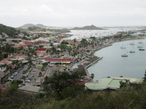 South over Marigot to Mount Fortune 'The Witch's Tit'
