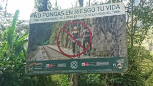 No Cycles or Motorccycles to Machu Picchu