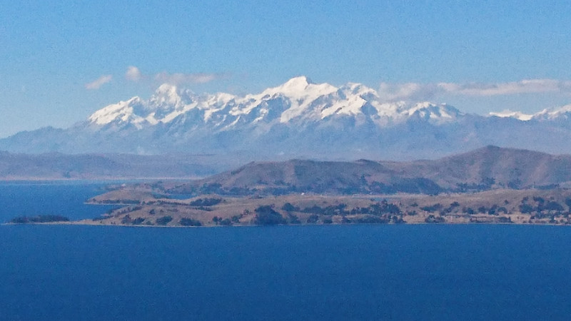 Andes Mountains and Lake Titicaca