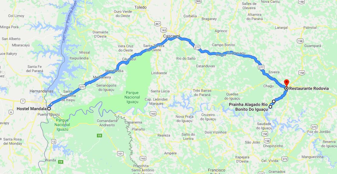 Foz do Iguazu to Rio Bonito do Iguazu