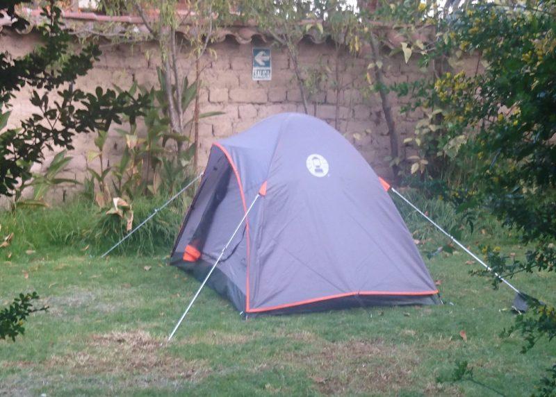 Coleman Rainforest 2 Tent, Ollantaytambo, Casa Quechua Campsite