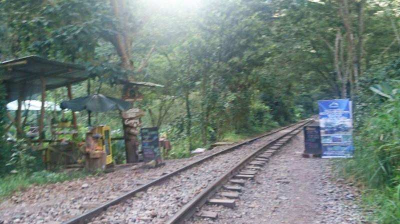 Vendprs along the Machu Picchu Railway