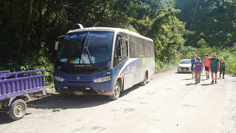 Collectivo bus from Santa Teresa to Hydro Electrica