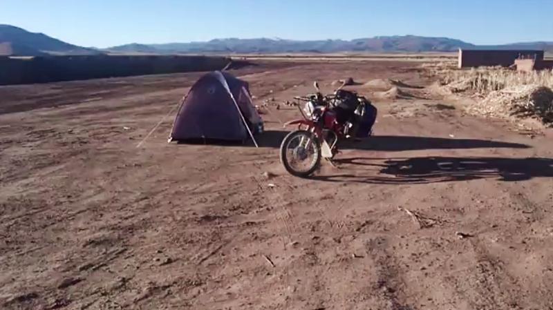 Carracollo wild camp, Bolivia