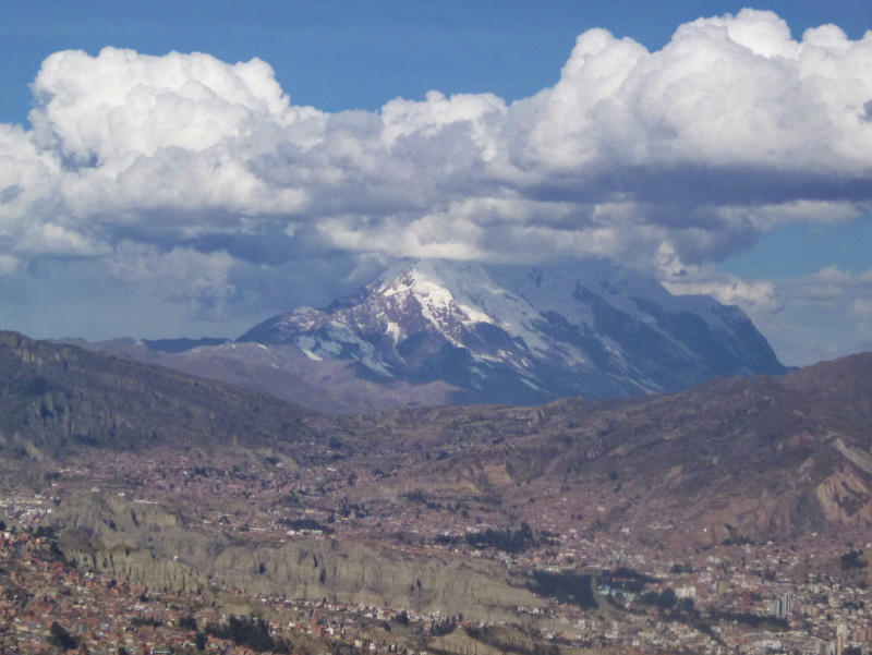 La Paz Mountains Illimani