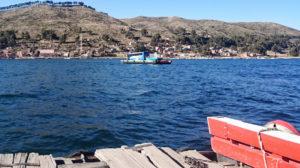 On the Tiquina Ferry, Bolivia