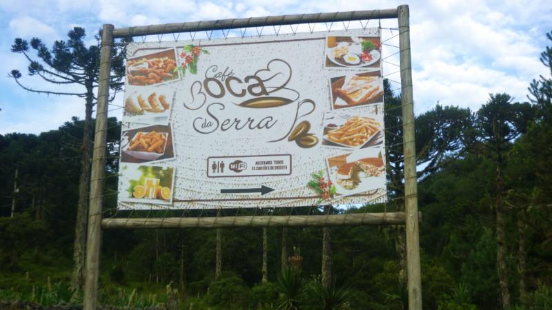 Cafe Boca da Serra sign
